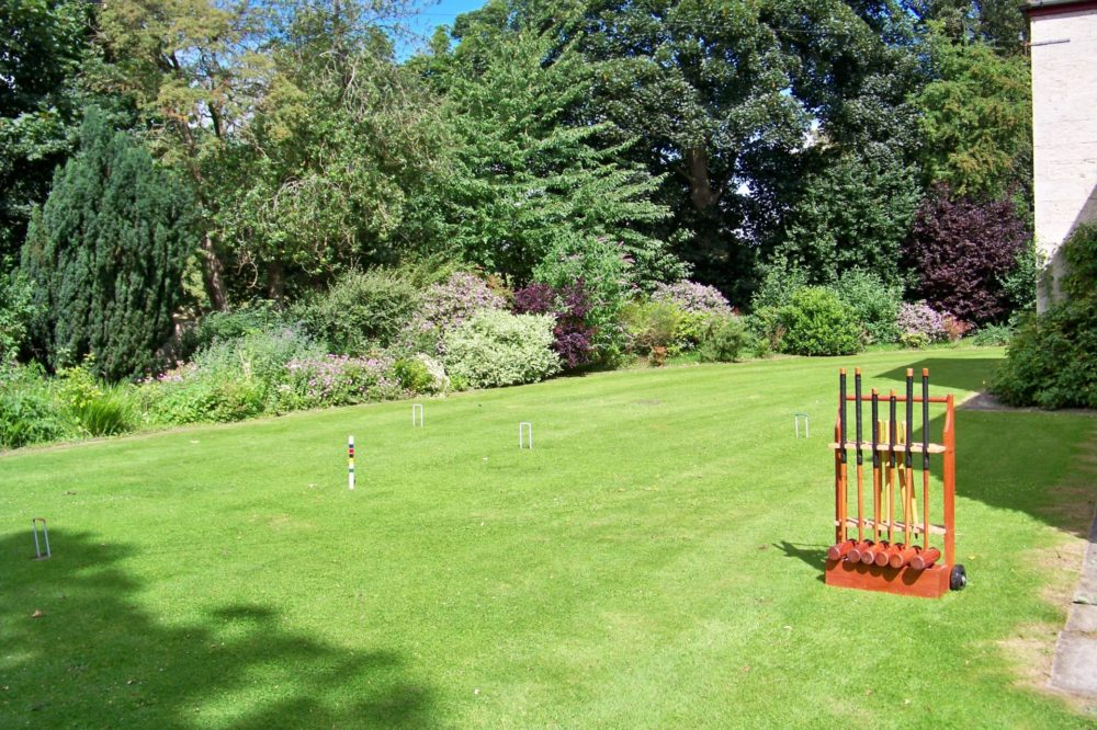 Front lawn with croquet set