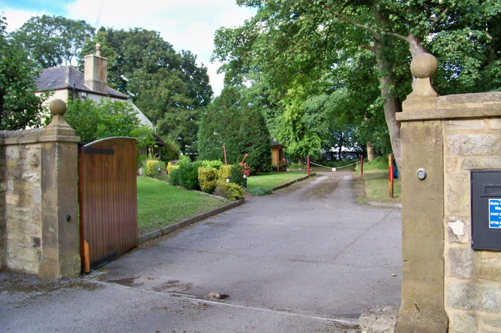 Entrance off road